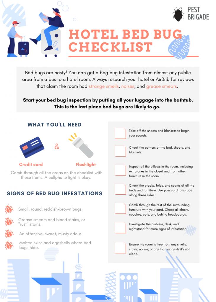 printable hotel bed bug checklist