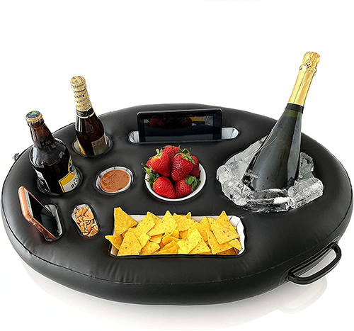 inflatable serving tray for a relaxing father's day gift
